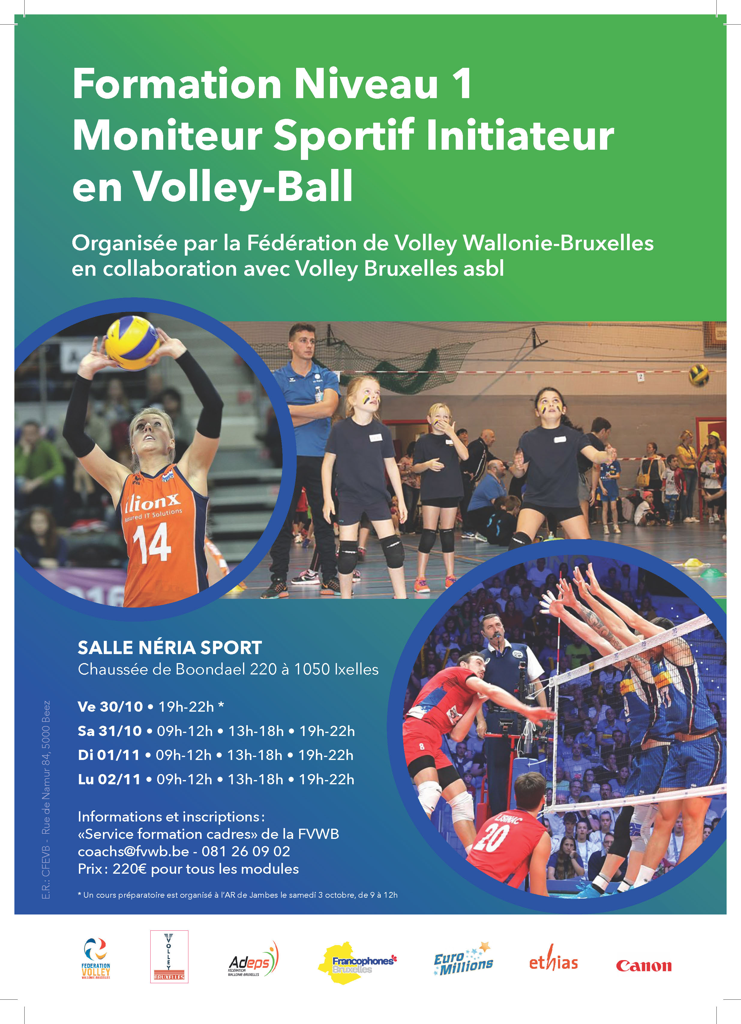 20 21 Formation Moniteur sportif Volley Ball A4